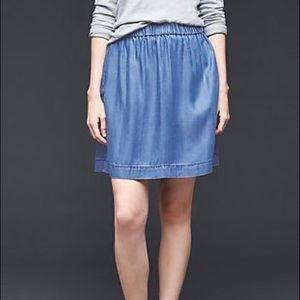 🌸2/$30🌸Gap Chambray Denim Skirt with Pockets